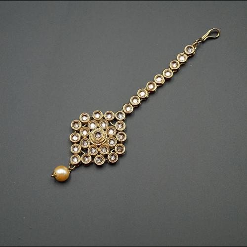 Lila -Gold Polki Tikka - Antique Gold
