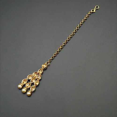 Madu Gold Kundan Stone Tikka - Gold
