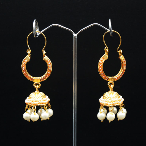 Fia Gold Polki Stone Jhumka - Gold