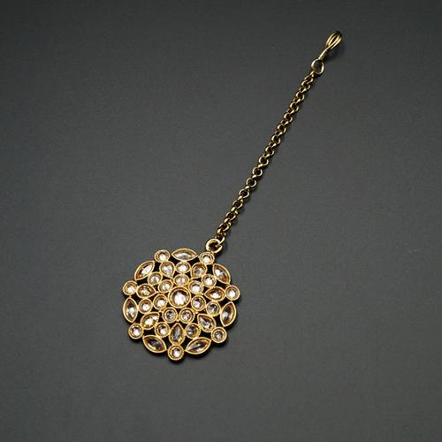 Akul Gold Polki Tikka  - Antique Gold
