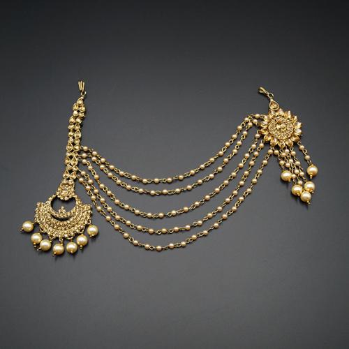 Saira Gold Diamante -Pearl Mathaa Pathi / Passa- Gold