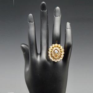 Ehsan- Gold Polki Stone Ring - AntiqueGold