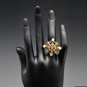 Dewa- Gold Polki Stone Ring - AntiqueGold