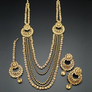 Rish- Gold Kundan Rani Haar Set - AntiqueGold