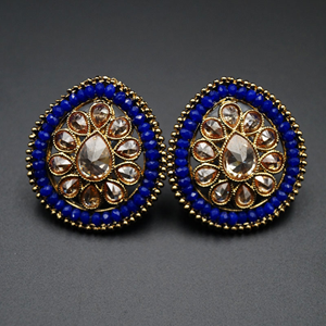 Chaya - Gold Polki Stone Earrings - AntiqueGold