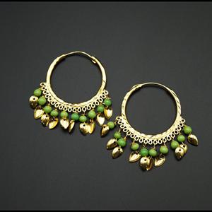 Yami -Mint (Hoop) Bali Earrings -Gold