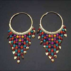 Raghi- Multicolour (Hoop) Bali Earrings -Gold
