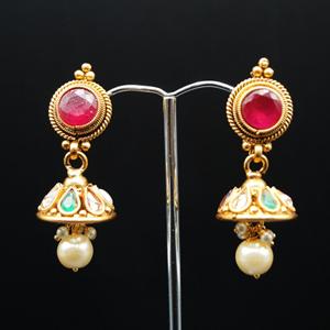 Ciya Multicolour Necklace Set - Gold