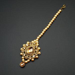 Rhu -Gold Diamante Tikka - Gold