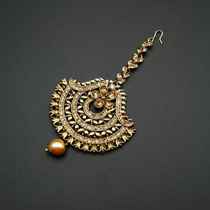 Jani  -Gold Diamante Tikka - Gold