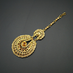 Linu  -Gold Diamante Tikka - Gold
