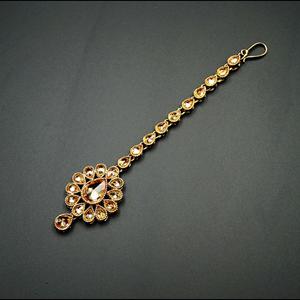 Maro  -Gold Polki Tikka - AntiqueGold