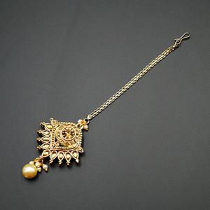Kari  -Gold Diamante Tikka - Gold