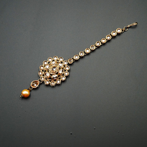 Loha Gold Polki Stone Tikka - Antique Gold