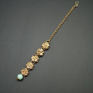 Chha -Gold Diamante Tikka - Gold