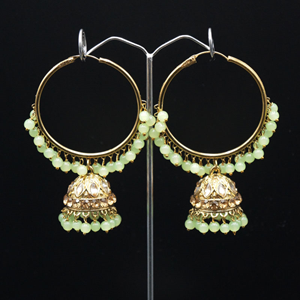 Sakti - Mint (Hoop) Bali Earrings -AntiqueGold