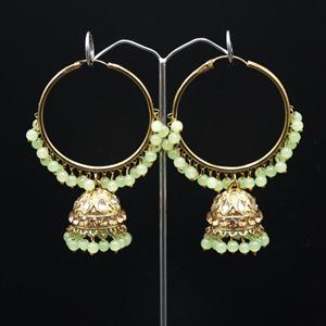 Sakti - Mint (Hoop) Bali Earrings -AntiqueGold