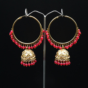 Sakti - Red (Hoop) Bali Earrings -AntiqueGold