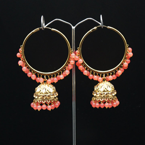 Sakti - Coral (Hoop) Bali Earrings -AntiqueGold