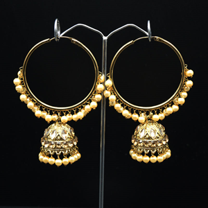 Sakti - Gold (Hoop) Bali Earrings -AntiqueGold