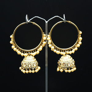 Aruna- Gold (Hoop) Bali Earrings -AntiqueGold