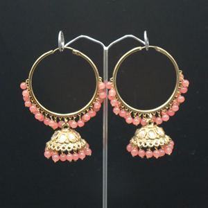 Sahas- Coral (Hoop) Bali Earrings -AntiqueGold