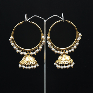 Sahas- Grey (Hoop) Bali Earrings -AntiqueGold