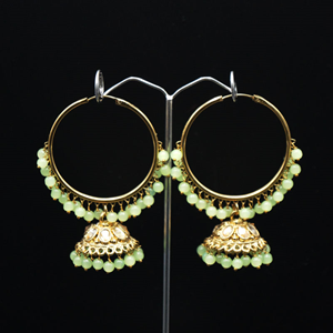 Sahas- Mint (Hoop) Bali Earrings -AntiqueGold