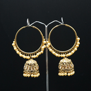 Libni - Gold (Hoop) Bali Earrings -AntiqueGold