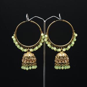 Libni - Mint (Hoop) Bali Earrings -AntiqueGold