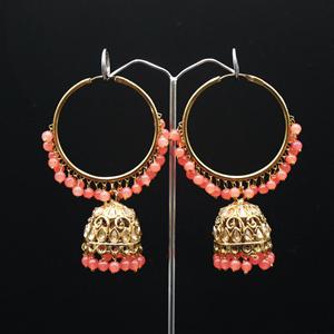 Libni - Coral (Hoop) Bali Earrings -AntiqueGold