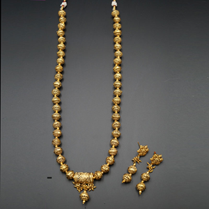 Parth- Gold Mala Necklace - Gold