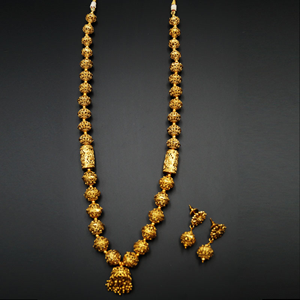 Jatoo- Gold Mala Necklace - Gold