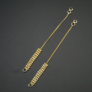 Gold Diamante Stone Sahara for Earrings- Gold