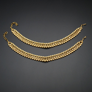 Jayan- Gold Diamante Payals - Antique Gold
