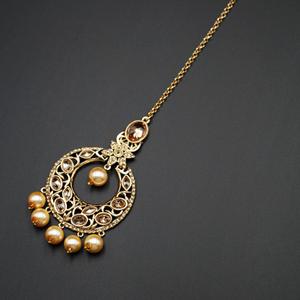 Tahil  -Gold Diamante Tikka - Gold