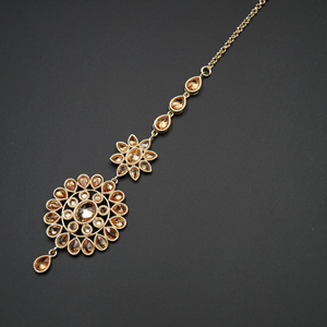Saro -Gold Diamante Tikka - Gold