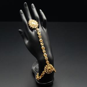 Taashi Gold Diamante Stone Hath Panja - Gold