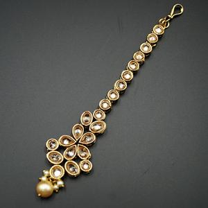 Saaj - Gold Polki Stone Tikka - Antique Gold