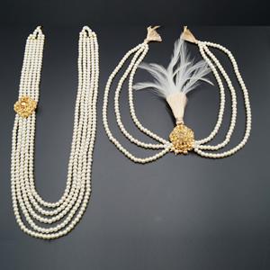 Kabir Groom Sherwani Haar & Kalgi - Gold