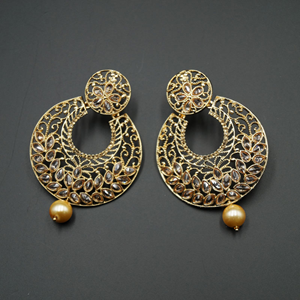 Kani Gold Polki Stone Earrings - Gold