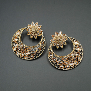 Farhi Gold Polki Stone Earrings - Gold