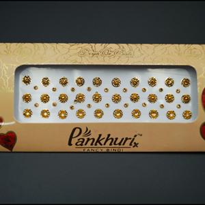Pankhuri - Gold Diamante Earrings - Gold