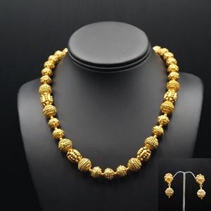 Aati Short Mala Set - Antique Gold