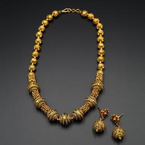 Vaida Short Mala Set - Antique Gold