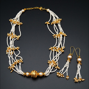 Jaki Pearl Necklace Set - Gold