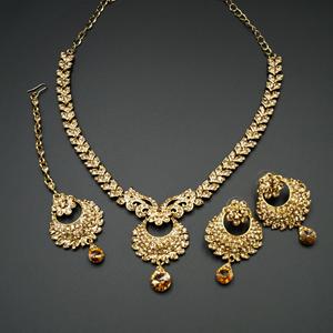 Lana Gold Diamante Necklace Set - Gold