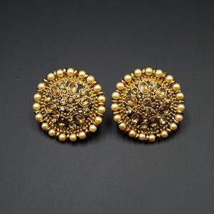 Mahoor- Gold Diamante Stone Topas - Gold