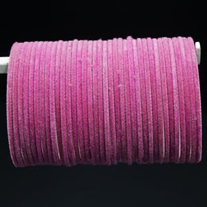 Baby Pink Velvet Bangles