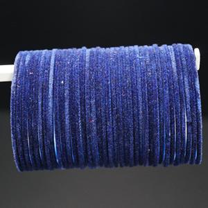 Navy Blue Velvet Bangles